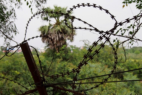 Razorwire at Choeung Ek Killing Fields, Phnom Penh, Cambodia