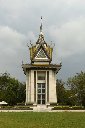 Memorial stupa at Choeung Ek Killing Fields, Phnom Penh, Cambodia