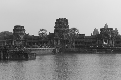 West Gate and causeway of Angkor Wat temple near Siem Reap, Cambodia