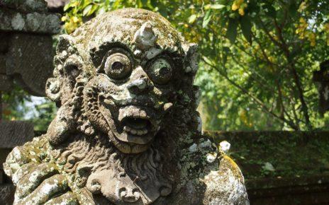 Stone demon statue in Ubud, Bali
