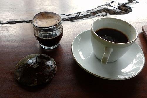 Cups of luwak coffee and Balinese coffee in Bali, Indonesia
