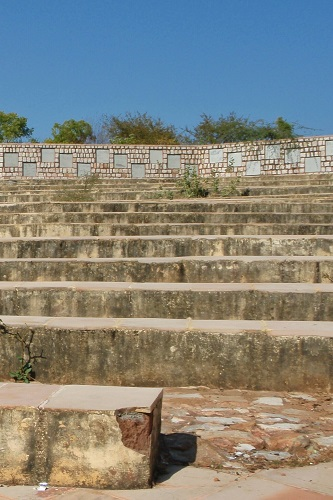 Stone amphitheatre near Nahargarh Fort in Jaipur, India