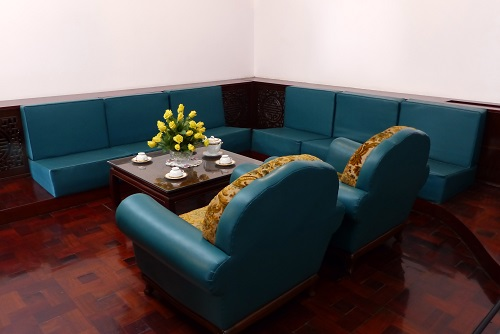 Furniture in the President's Bedroom at Reunification Palace, Ho Chi Minh City, Vietnam
