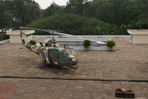 Helipad on the Roof at Reunification Palace, Ho Chi Minh City, Vietnam