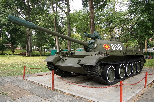 Tank in the Garden at Reunification Palace, Ho Chi Minh City, Vietnam
