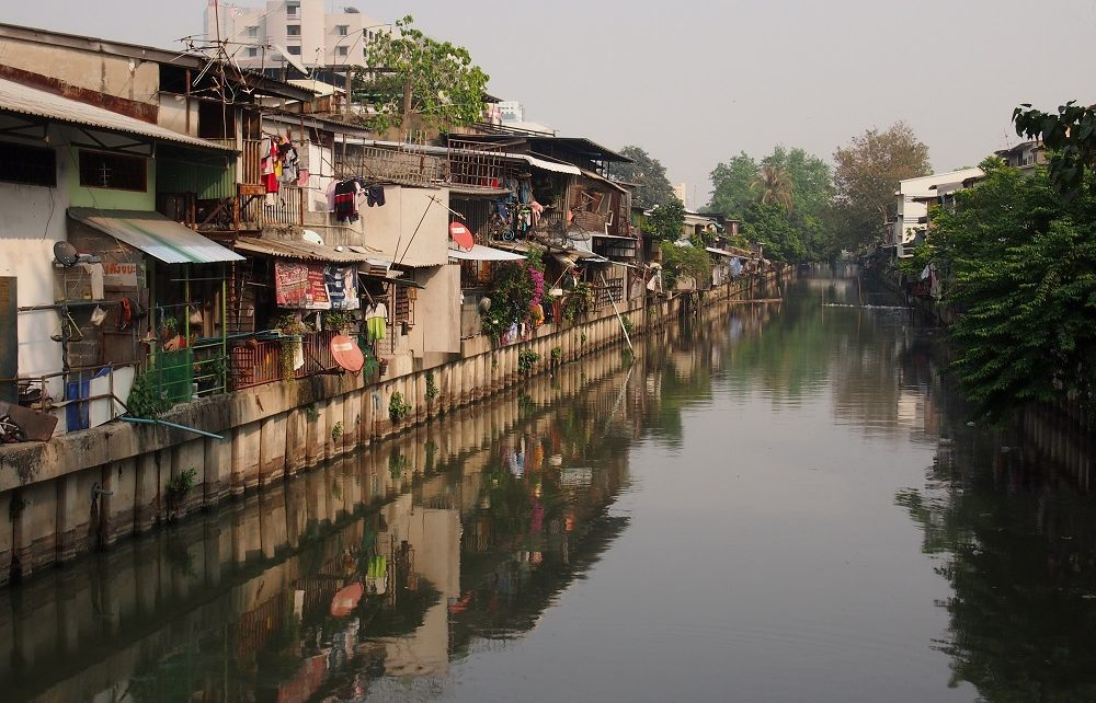 Khlong Toei Canal in Bangkok, Thailand