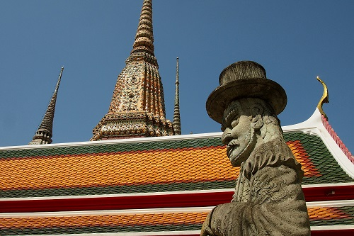 Statue of a giant at Wat Pho temple in Bangkok, Thailand