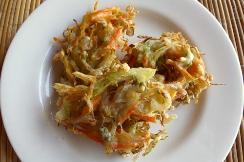 Bakwan vegetable fritters in Bali, Indonesia