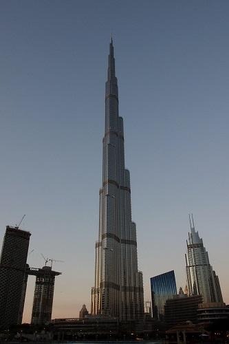 View of the Burj Khalifa in Dubai, UAE