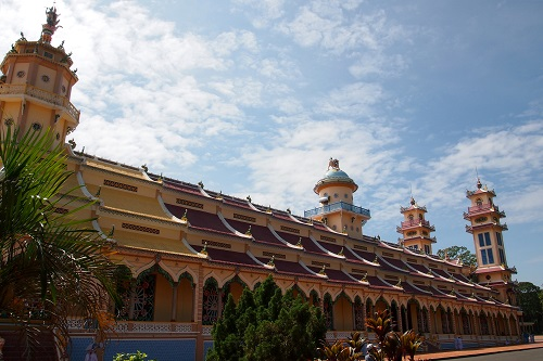 The Great Divine Temple at Cao Dai Holy See in Vietnam