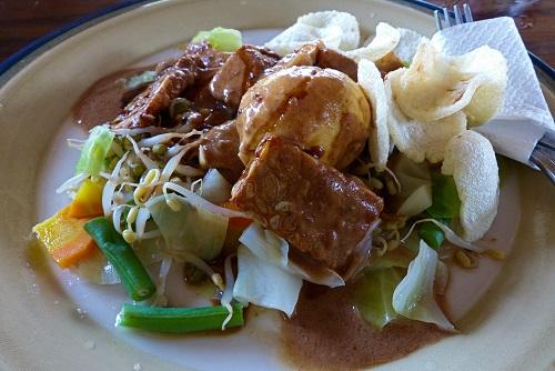 Gado Gado vegetables to eat in Bali, Indonesia