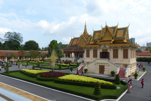Gardens of the Royal Palace in Phnom Penh, Cambodia