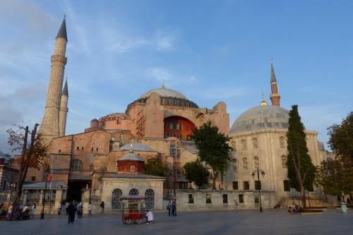 Food cart outside Hagia Sophia in Istanbul, Turkey