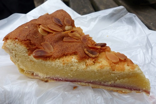 Slice of Bakewell tart from Bloomers in Peak District, England
