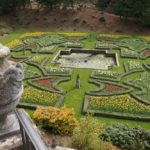 View over Italian garden at Lyme, Peak District