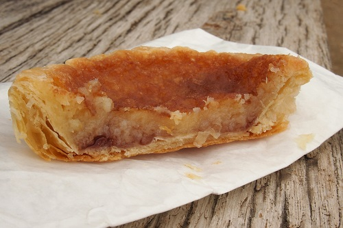 Half Bakewell pudding in Peak District, England
