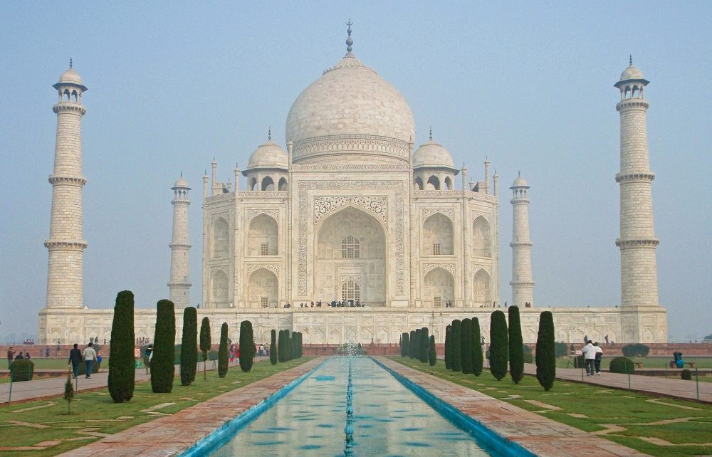 Taj Mahal and gardens in Agra, India