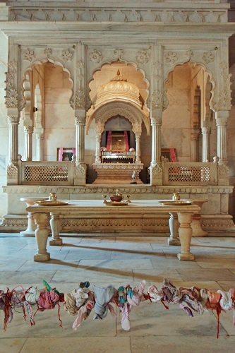 Central shrine inside main cenotaph at Jaswant Thada in Jodhpur, India