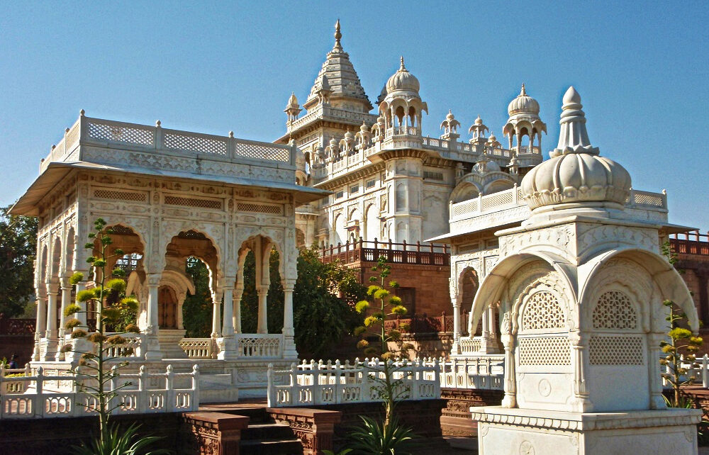 Cenotaphs at Jaswant Thada in Jodhpur, India