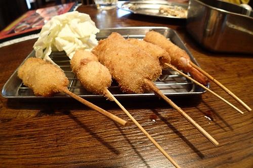 Skewers of kushikatsu, Osaka food in Japan