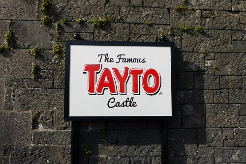 Sign for the Famous Tayto Castle in Tandragee, Northern Ireland