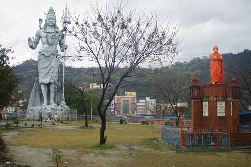 Giant statue of Shiva in a park in Haridwar, India