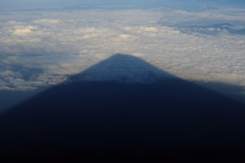 The shadow of Mount Fuji, Japan