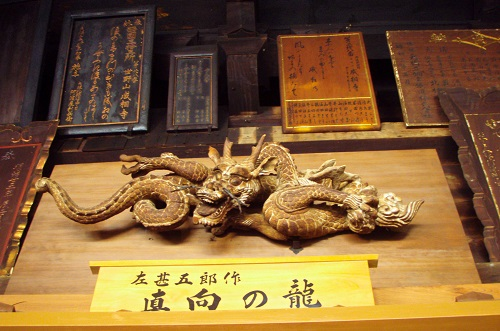 The all-seeing wooden dragon at Nariaiji temple at Amanohashidate, Japan
