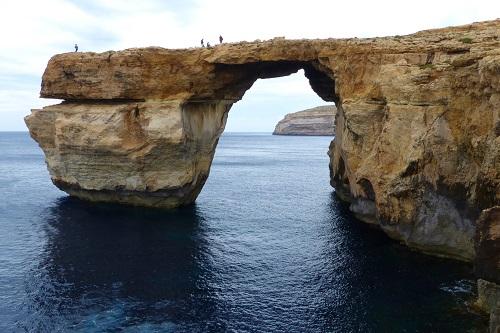 Azure window arch at Dwejra Bay in Gozo