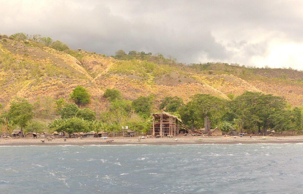 Bontoh Village on the beach on Sangeang Island, Indonesia