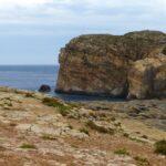 Fungus Rock and Coastline of Dwejra Bay in Gozo