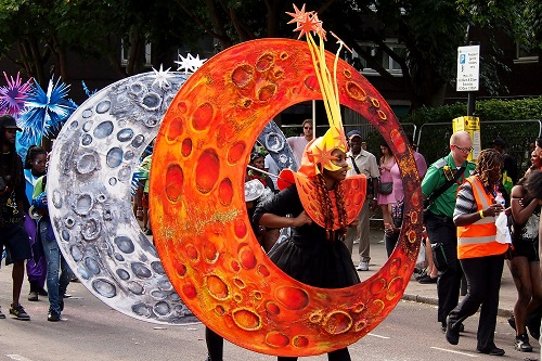 Planet Costumes at Notting Hill Carnival in London, England