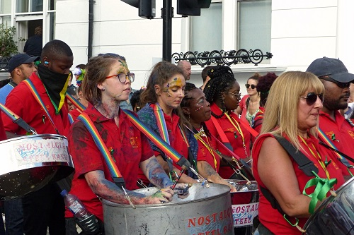 Steel band at Notting Hill Carnival in London, England