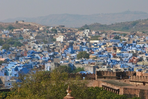 Cubic houses in the Blue City of Jodhpur, India