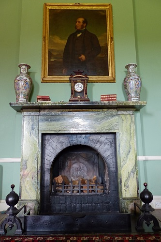 Portrait over fire place in Florence Court near Enniskillen, Northern Ireland