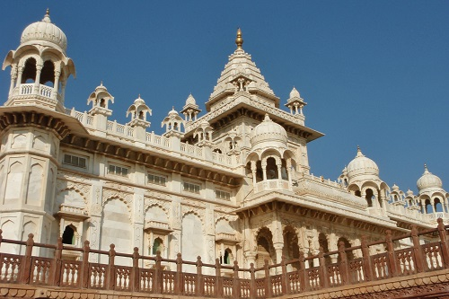 The main cenotaph at Jaswant Thada in Jodhpur, India