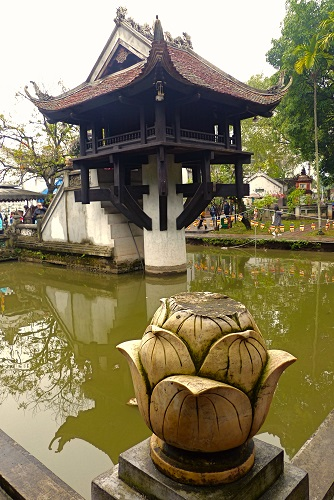 One Pillar Pagoda in pond at Ho Chi Minh's Mausoleum in Hanoi, Vietnam