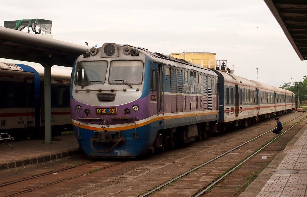 Train at Nha Trang station, Vietnam