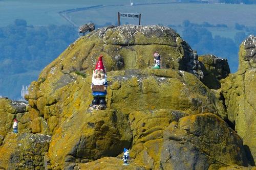 Gnomes on the rocks at Inchcolm Island, Scotland
