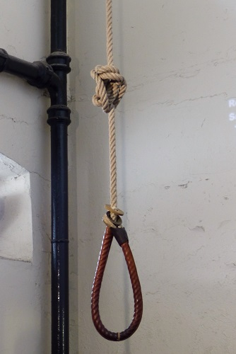 Hangman's noose at Crumlin Road Gaol in Belfast, Northern Ireland