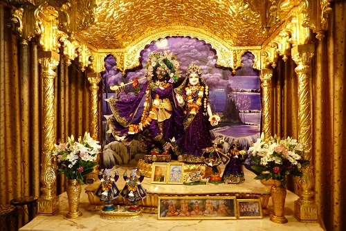 Main Altar at Hare Krishna Temple on Inis Rath island, Northern Ireland